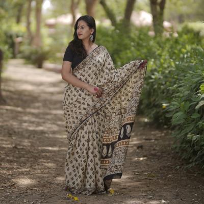 Cotton Handblock Print Sarees
